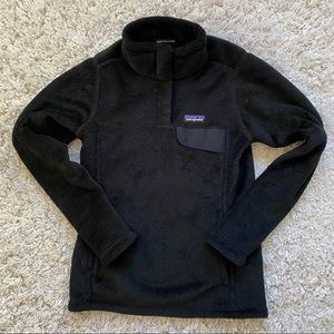 Patagonia Re-Tool Snap-T Fleece Pullover, XS Black